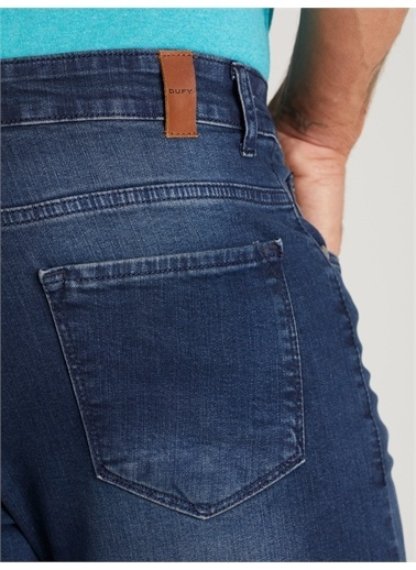 Dufy Sıyah Erkek Denım Pantolon - Slım Fıt Mavi